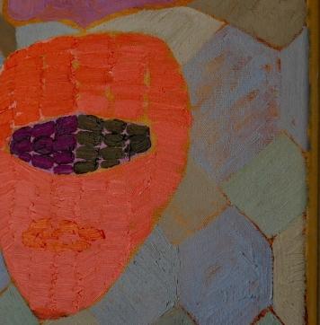 "Detail ""Violet Moss"" 30x30cm, oil on canvas, 2017"