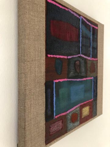 Amuser le tapis, 30x30cm, oil on linen canvas (2020)