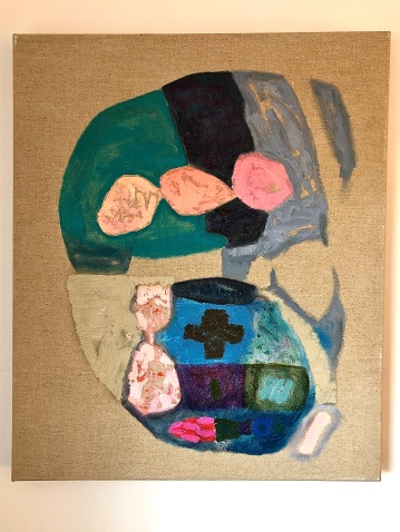 The Portrait of Dorian Sisyphos Continental, 54x65cm, oil on linen canvas (2014-2020)