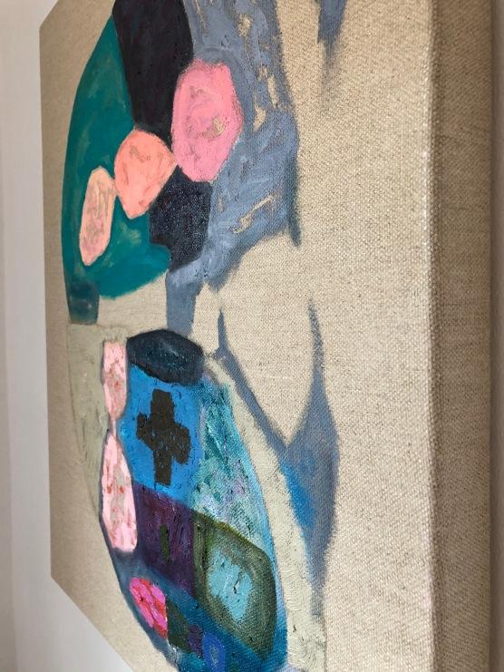 Side view The Portrait of Dorian Sisyphos Continental, 54x65cm, oil on linen canvas (2014-2020)